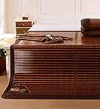 WUFENG Faltbare Bett-Matte Supercool Bettwäsche Bambusmatten Gewebte Matratze Doppelseitige Verwendung Für Sommer-Twin/Full / Queen/King Size (größe : 200 * 215CM)