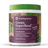 Superalimento Verde Amazing Grass, Baya Dulce, 210g | Su dosis diaria de verduras, frutas y...