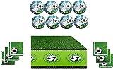 Best Platos para niños - Fútbol Juego de Fiesta temática–/accesorios/Decoración de servilletas, Mantel Review
