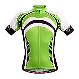 Czup, maglietta da ciclismo estiva da uomo, a maniche corte, leggera e traspirante, Green Giant, UK L