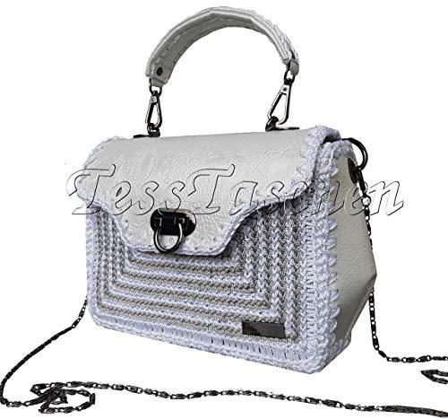 Damen Handtasche Kleine weiße Crossbody Tasche Damen Aktentasche Tasche auf der Haut geprägt Kollektionstasche 2019 Designer-Tasche
