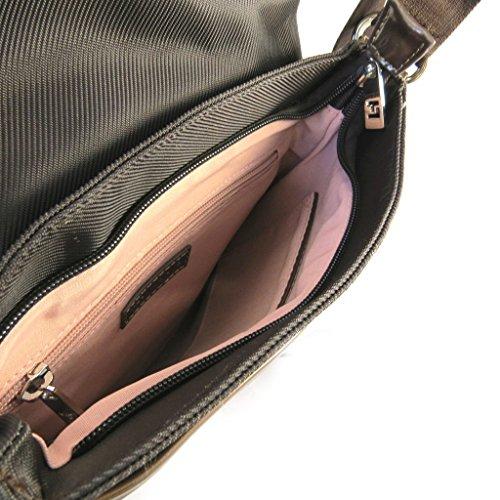 Bolsa de hombro 'Ted Lapidus'marrón.