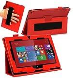Navitech Custodia/Case Stand Rossa in Ecopelle pe Nokia Lumia 2520 10.1 Windows Tablet