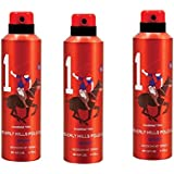 Beverly Hills Polo Club 1 Fragrance Spray For Men, 150 Ml ( Set Of 3 )