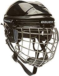 Bauer 2100 - Casco de hockey con rejilla de protección facial para adulto negro negro Talla:large