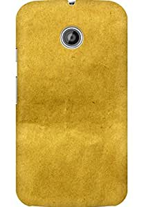AMEZ designer printed 3d premium high quality back case cover for Moto E (yellow paper texture)