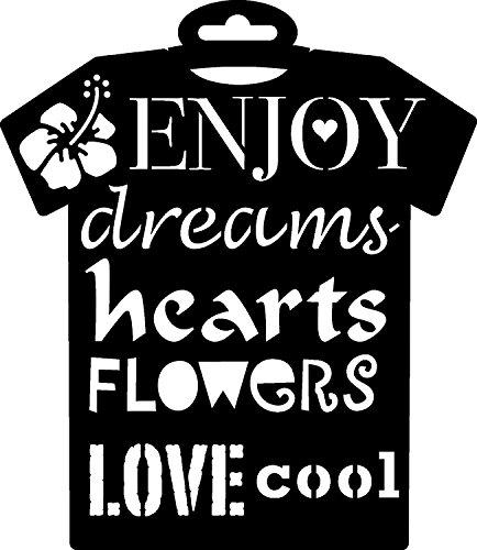 pronty-textil-schablone-t-shirt-enjoy-236x205mm-love-cool-flowers-dreams-hearts-blume-basteln-schabl