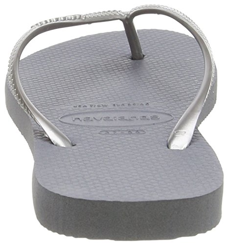 Havaianas Slim, Tongs Fille Argent