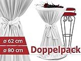 Doppelpack zum Sparpreis - festliche Husse aus dehnbarem Jersey-Stretchstoff - in 2 verschiedenen Größen - einfache Dekorationsidee für Ihre Familienfeiern & Feste, 80 cm