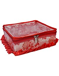 SuiDhaga Jama Red Makeup Kit Royal Square (Dimension: 25*25*11 CM)
