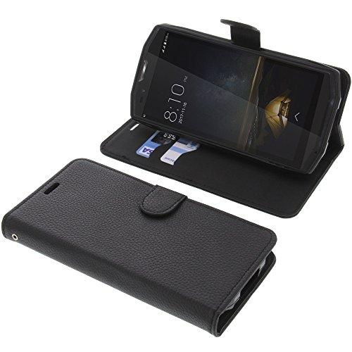 foto-kontor Tasche für Blackview BV9000 / BV9000 Pro Book Style schwarz Schutz Hülle Buch