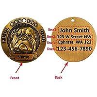 Etiquetas personalizadas para identificación de perro, etiquetas personalizadas de identidad para mascotas, aleación de cobre, etiquetas para perros con grabado clásico