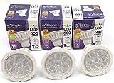 3er Pack Dimmable - Tageslicht - GU10 LED-Glühlampen (7W = 72W) Ersatz für Halogenlampen - 6500K - 500 Lumen - 90% Energiesparlampen von e3Light