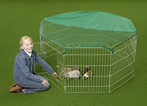 8 Panel Rabbit / Guinea Playpen Enclosure Run Runs With Net Bunny Business 004m from BUNNY BUSINESS