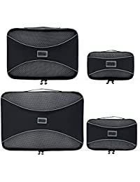 PRO Packing Cubes | 4 Piece Travel Packing Cube Value Set | 30% Space Saver Bags | Ultra Lightweight Luggage Organisers | Great for Duffel Bags, Carry on & Backpacks