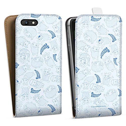 Apple iPhone X Silikon Hülle Case Schutzhülle Sorgenfresser Monster Fanartikel Merchandise Downflip Tasche weiß