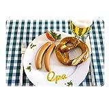 Tischset mit Namen ''Opa'' Motiv Senfschrift - Tischunterlage, Platzset, Platzdeckchen, Platzunterlage, Namenstischset