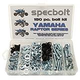 150pc Specbolt Yamaha Raptor 600 660 700 Bolt Kit for Maintenance & Restoration OEM Spec Fasteners ATV Quad also good for 80 90 125 250 350 by Specbolt