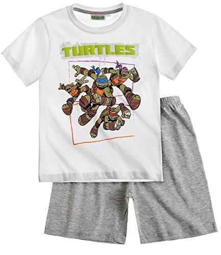Ninja Turtles Shorty-Pyjama - weiß - 128