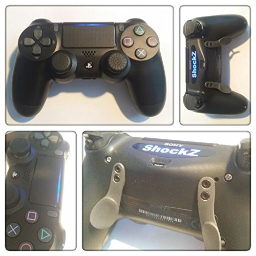 PS4 PRO Controller - ShockZ Controller Umbau - Triggerstop - X&O Buttons - Paddel - Playstation 4 - Schwarz