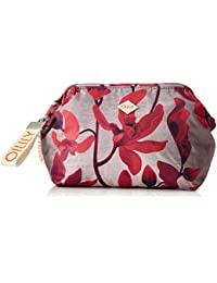 Oilily - Ruffles Cosmeticpouch Mhz 3, Carteras de mano Mujer, Rot (Dark Red), 9x15x20 cm (B x H T)