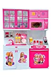 SP Enterprise 12 Inches Play Kitchen Set Toy with Lights and Music