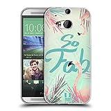 Head Case Designs Tropisch Fab Flamingo Soft Gel Hülle für HTC One M8 / M8 Dual SIM