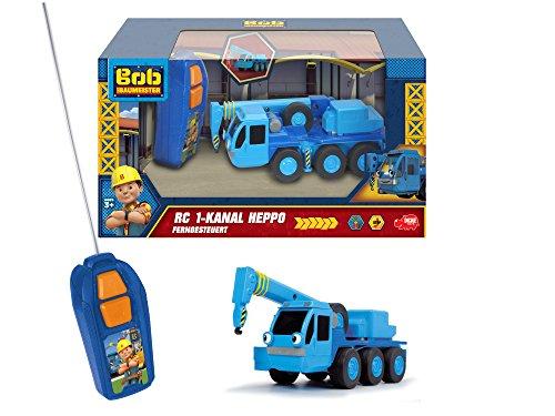RC Auto kaufen Spielzeug Bild 3: Dickie Toys 203133002 - RC Bob der Baumeister Heppo, ferngesteuerter Kran, Spielzeugkran, Hebekran, 20 cm*