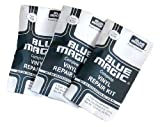 3 x Blue Magic Repair Set, Adhesive and Patches for Waterbed, Pool, Paddling Pool, Waterpolo Balls, etc Can Also Be Used Underwater