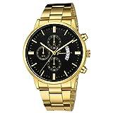 Abstand Armbanduhr FGHYH Herren Männer Edelstahl Quarz Analoge Datum Armbanduhr Sport Uhren Geschenke Uhr Watch Armbanduhr(Mehrfarbig)