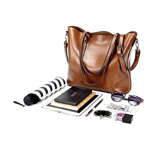 Myleas Women Handbags Sacs à main de mode pour femme Sacs simples en cuir PU Sacs à bandoulière Messenger ROUGE FONCÉ