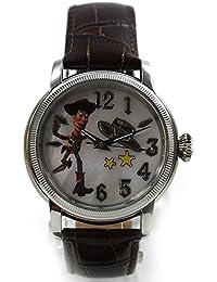 Disney Uhr Damen Automatikuhr Toy Story Woody Lederband braun Perlmutt Sammleruhr