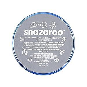 Snazaroo - Pintura facial y corporal, 18 ml, color gris oscuro