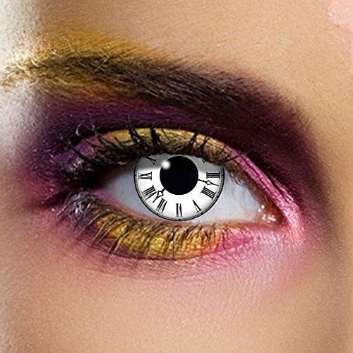 Paio di lenti a contatto colorate Tick Tock lenti a contatto unisex finte senza diottrie in soluzione salina wildcat durata 3 mesi lenti a contatto per carnevale e halloween o scherzo