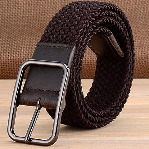 Elástico de confort casual lona trenzada de seda la tensión la correa , brown , 110cm