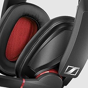 Sennheiser GSP 350 Geschlossenes Gaming-Kopfhörer, schwarz/rot
