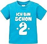 EZYshirt Ich Bin Schon Zwei | Bio Baby T-Shirt