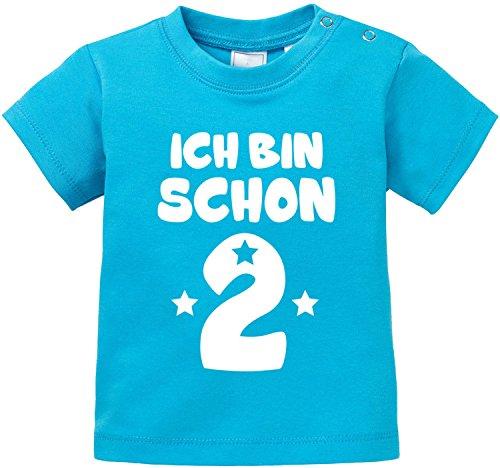 EZYshirt® Ich bin Schon Zwei   Bio Baby T-Shirt -