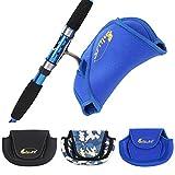 Große Angelgerät Angelausrüstung Angelrolle Tasche - Marineblau