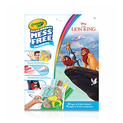 Crayola Disney The Lion King Color Wonder Mess Free Coloring - 18 Pages and 4 Mini Markers (Color Wonder Mini)