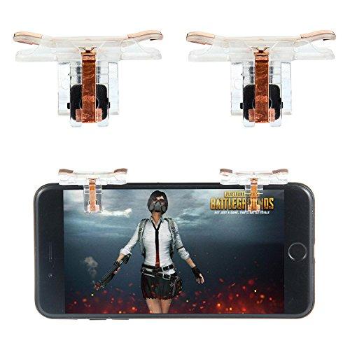 KOBWA Mobile Game Controller, [Seventh-generation] Sensitive Schießen und Ziel Tasten L1R1 für Regeln Des Überlebens/Survivor Royale/Messer Out/PUBG/Kritische Ops für 4,5-6,5 Zoll Android IOS, 1 Paar (Messer Black Ops)