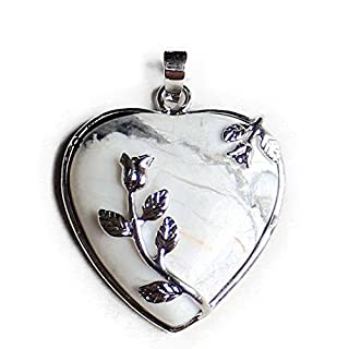 Aituo 1pc Natural Crystal Reiki Pile Gemstone Healing Chakra Pendant Pendulum for Necklace DIY Jewelry Making