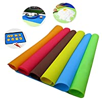 Sellify Ramdon Color : 2017 40x30cm Silicone Mats Baking Liner Best Silicone Oven Mat Heat Insulation Pad Bakeware Kid Table Mat Hot Sale(Random Color)