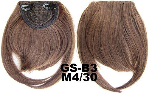 # 4 _ 30 m 100% fibre synthétique haute température Clip dans/sur cheveux avant frange frange cheveux