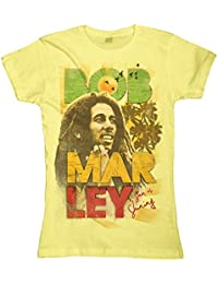 BOB MARLEY - SUN IS SHINING - OFFICIAL WOMENS T SHIRT - Jaune, M