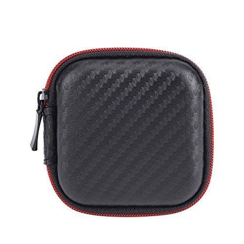 Auriculares Bolsa, Moliker PU trasporto auricolari di caso per Hard Tenere auricolari SD Card (2 Pack)