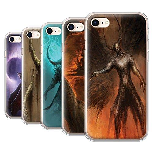 Offiziell Chris Cold Hülle / Gel TPU Case für Apple iPhone 8 / Pack 10pcs Muster / Dunkle Kunst Dämon Kollektion Pack 10pcs