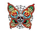 rabana Schmetterling Spider Web Skull Ghost Tag sterben der Todesstrafe, Love never, Motorrad Patch für Heimwerker-Applikation Eisen auf Patch T Shirt Patch Sew Iron on gesticktes Badge Schild Kostüm