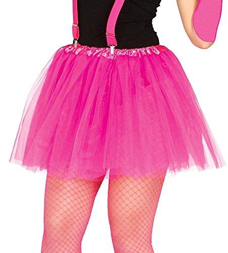 488 - pinker kurzer Neon Tutu Frauen-Rock (Prima Ballerina Kostüme)