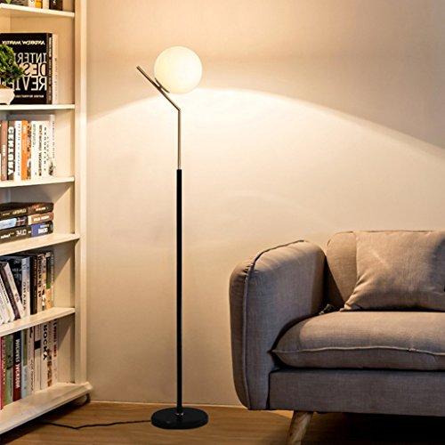 Stehlampe Stehleuchte Moderne minimalistische Wohnzimmer Schlafzimmer Nachttischlampe LED Brille kreative Persönlichkeit Studie dimmbare vertikale Eisen Lampe Wohnzimmer
